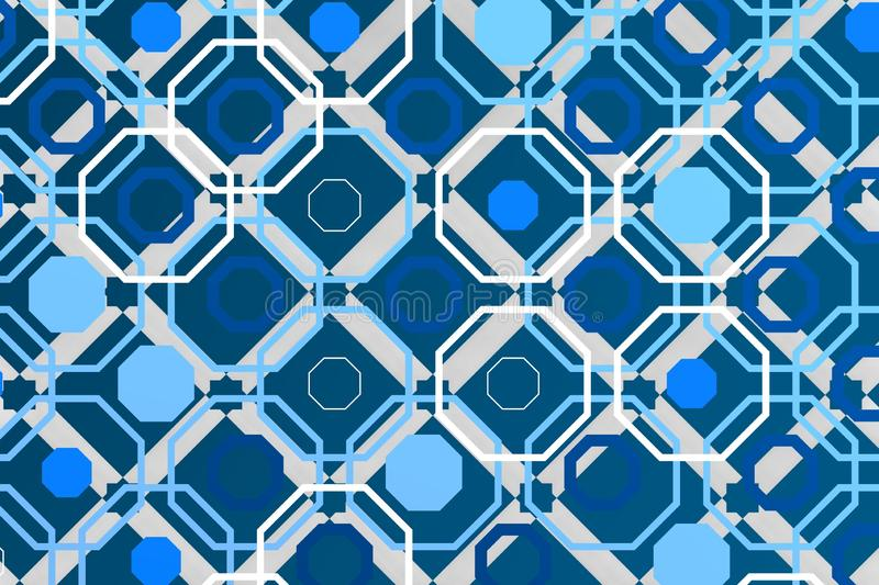 Arabic octagon over geometric background stock photography