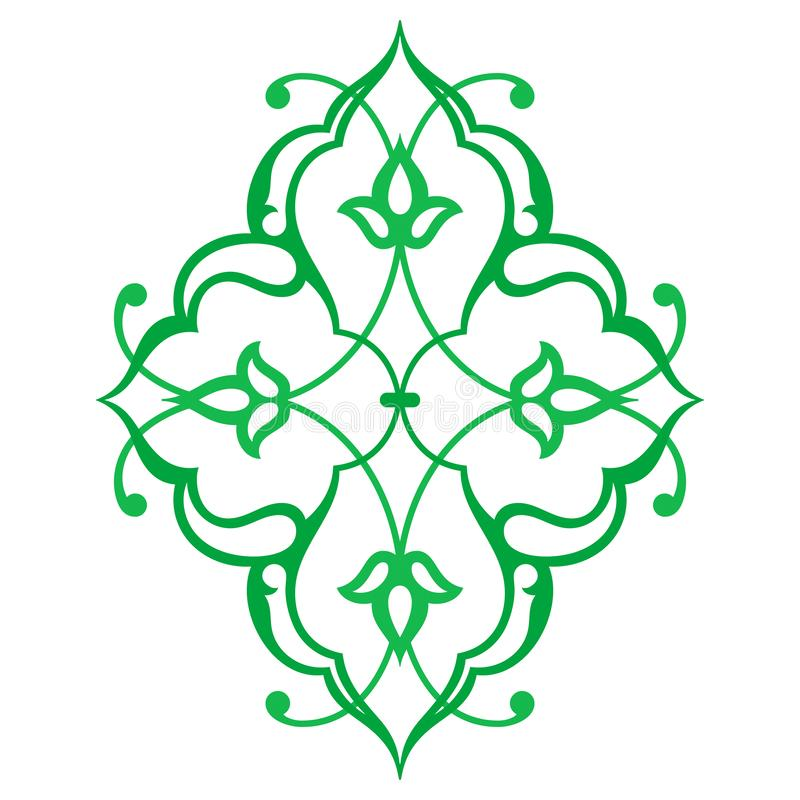 Arabic oriental ornament. Floral pattern motif., vector illustration