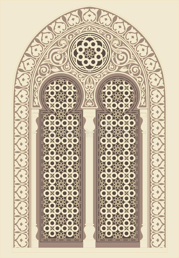 Arabic ornament stock illustration