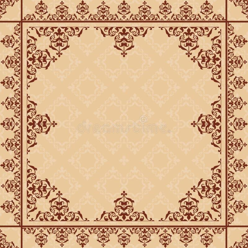 Arabic ornament on light beige vector pattern royalty free illustration
