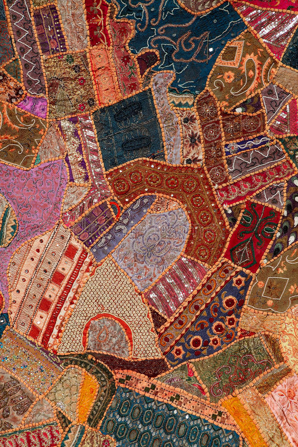 Arabic patchwork quilt stock images