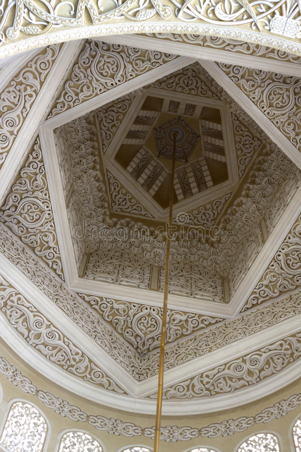 Arabic Pattern. Inside sheikh zayed mosque royalty free stock images