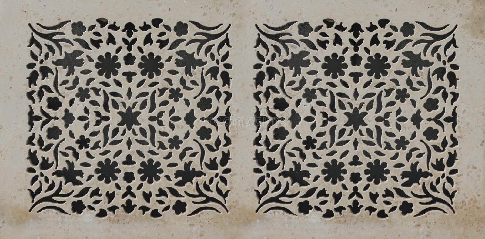 Arabic Pattern. Carvings, texture and design royalty free stock photos