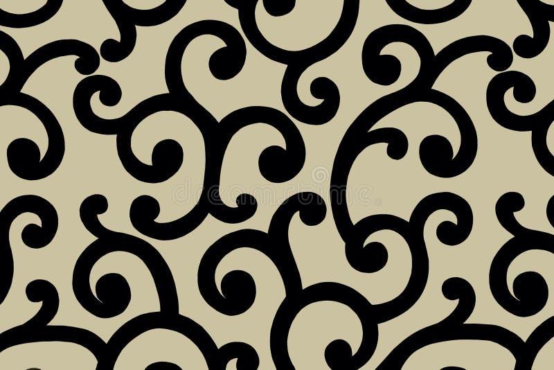 Arabic pattern.Illustration. royalty free stock photos