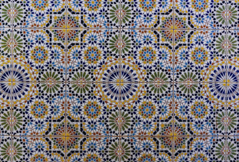 Arabic pattern, oriental islamic ornament. Moroccan tile, or Moroccan zellij traditional mosaic. Arabic pattern, oriental islamic ornament. Moroccan tile, or stock images