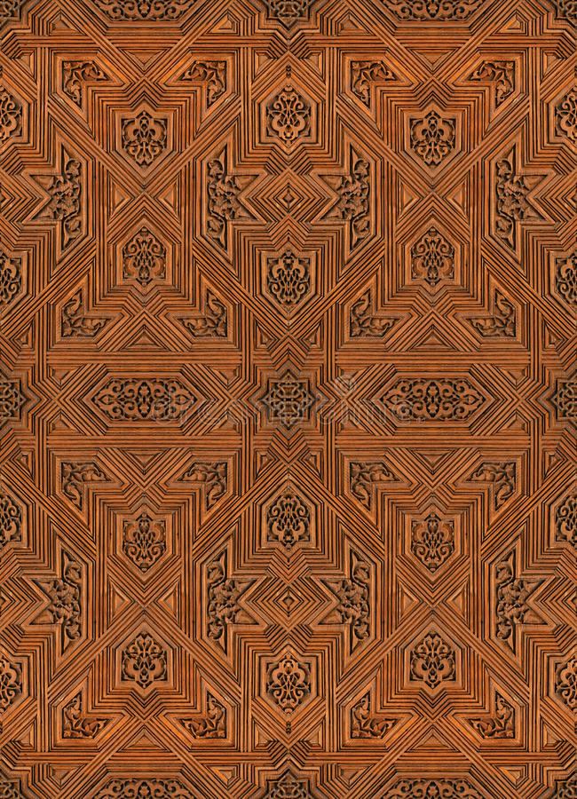 Arabic pattern seamless texture at Alhambra palace. In Granada, Spain stock images