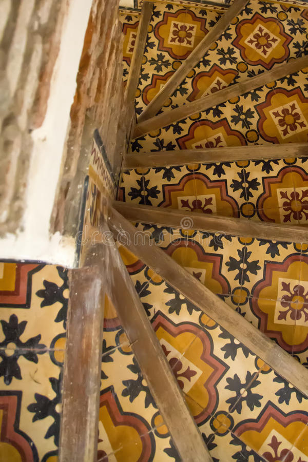 Arabic pattern. On a staircase stock photography