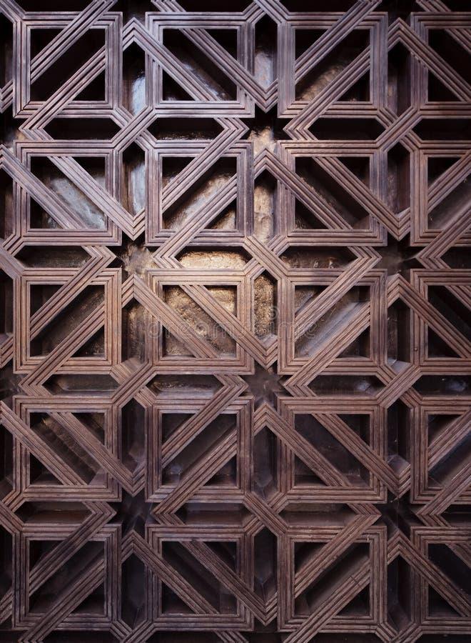 Arabic pattern texture at Mosque Cordoba. Spain stock photos