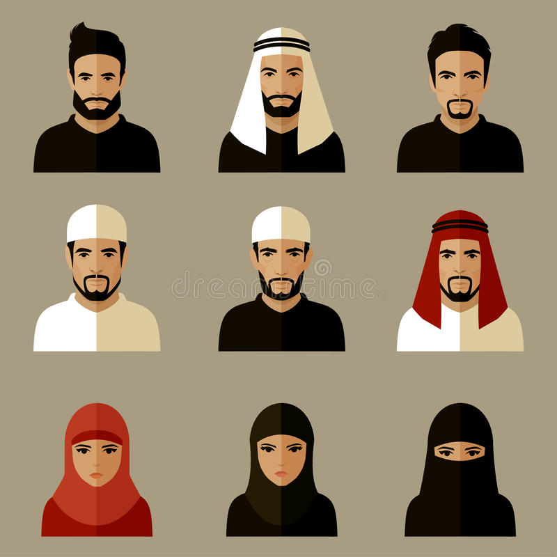 Arabic people, royalty free illustration