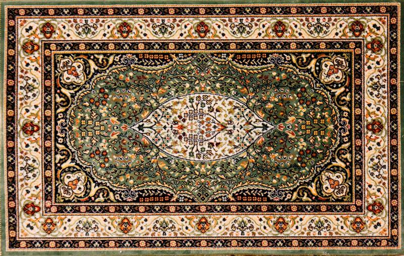 Arabic rug with floral pattern. Arabic or Persian rug with floral pattern royalty free stock images