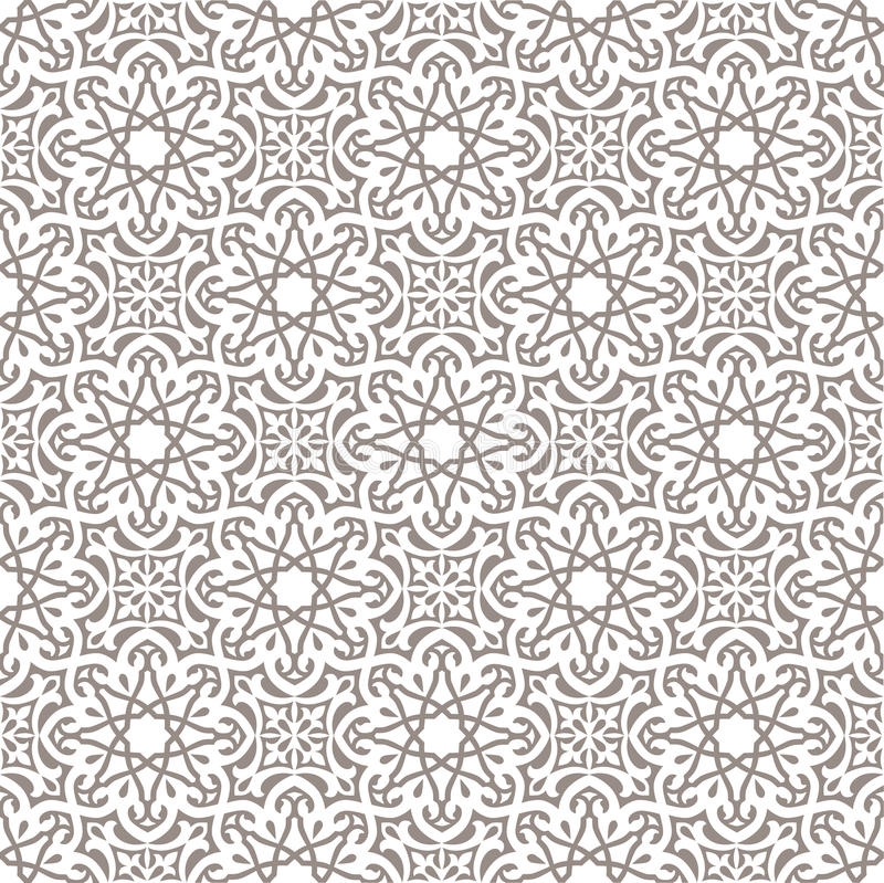 Arabic seamless ornament stock illustration