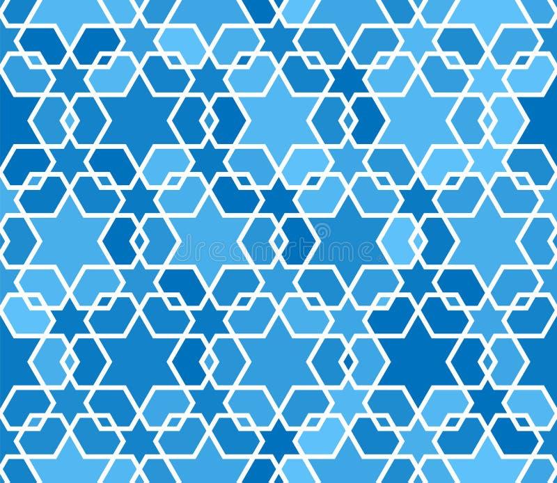 Arabic seamless patterns. Pattern fills. Oriental, arabic style. Mosaic seamless patterns. Arabic ornaments. royalty free illustration