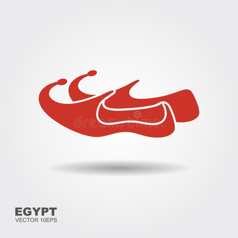 Arabic shoes icon. Flat illustration of arabic shoes vector icon stock illustration