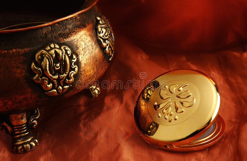 Arabic Still-Life. On a fabric background royalty free stock images