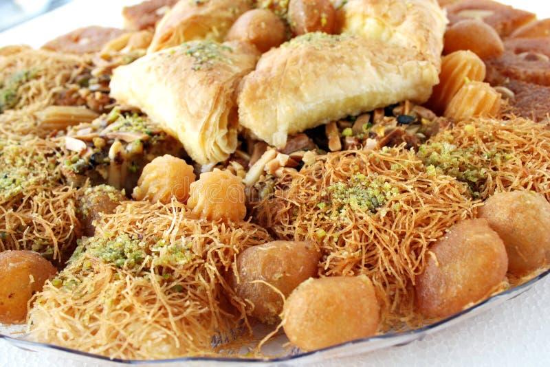 Arabic sweet pastries stock photo
