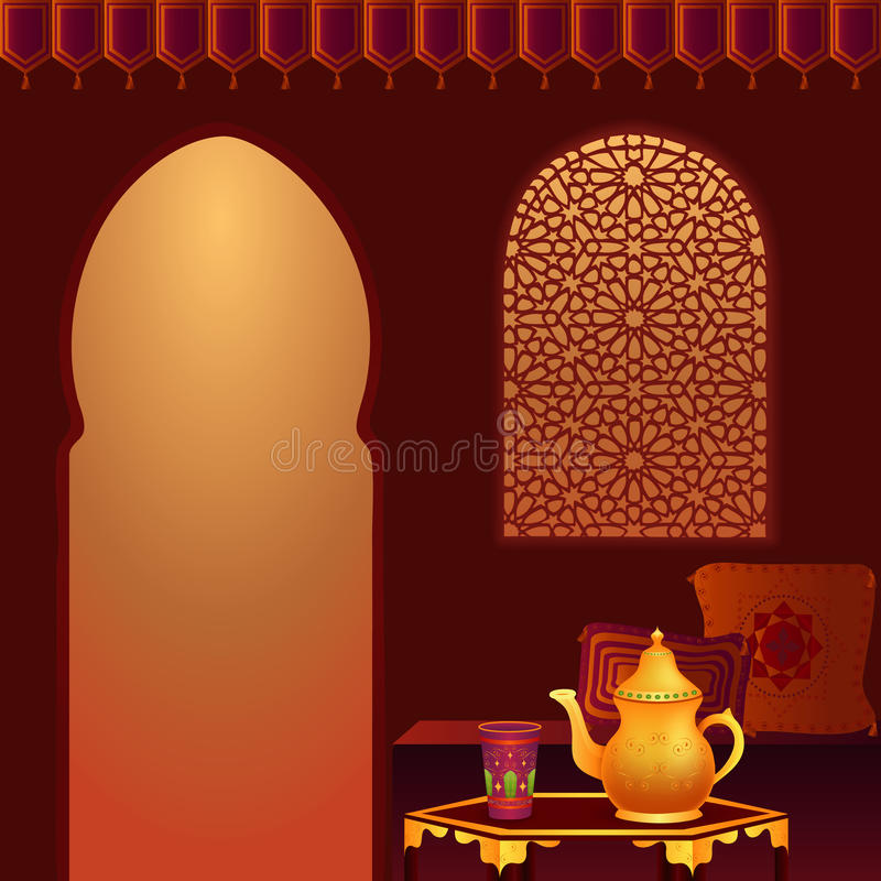 Download Arabic Tea Room stock vector. Image of glass, egypt, asia - 11494119