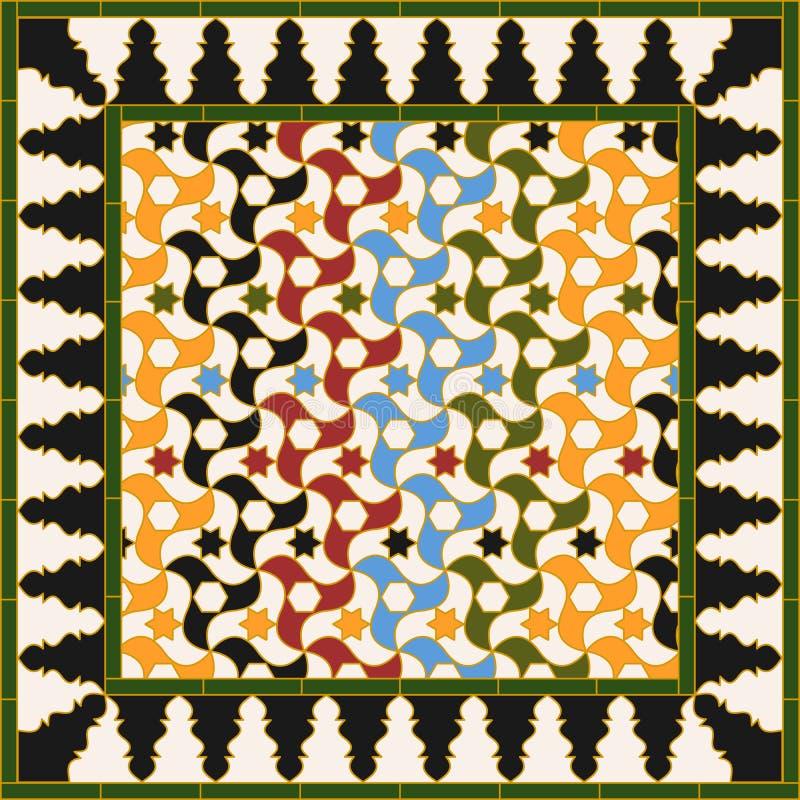 Arabic tile stock illustration