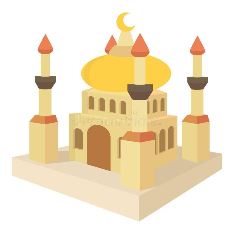 Arabic town icon, cartoon style stock illustration