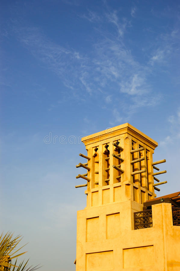 Download Arabic Wind Tower During Sunset Stock Photo - Image: 12686140