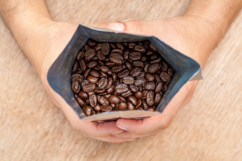 Arabica Geroosterde Koffie stock fotografie