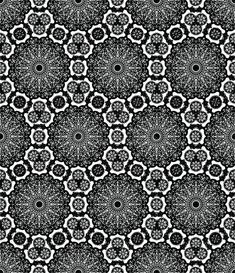 Arabica mandala czerni wzoru element ilustracja wektor