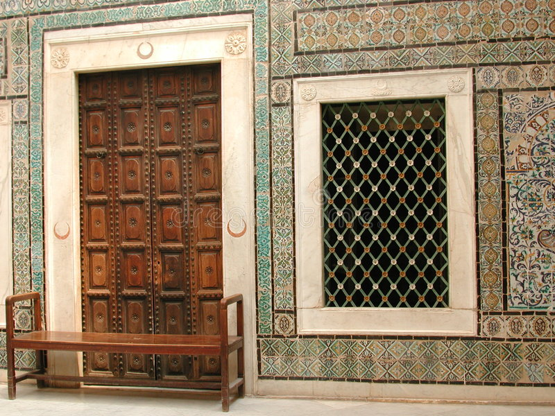arabien double window στοκ εικόνες