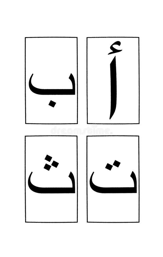 Arabisch Alfabet 1 Deel 1 royalty-vrije illustratie