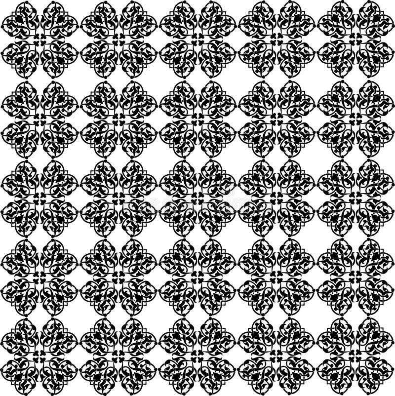 Arabisch bloemenpatroon stock illustratie