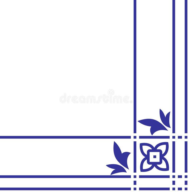 Arabisch Bloemenpatroon Element voor ontwerphoek stock illustratie