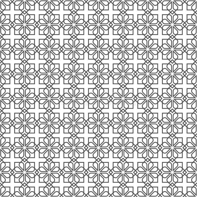 Arabisch gevoelig patroon stock illustratie
