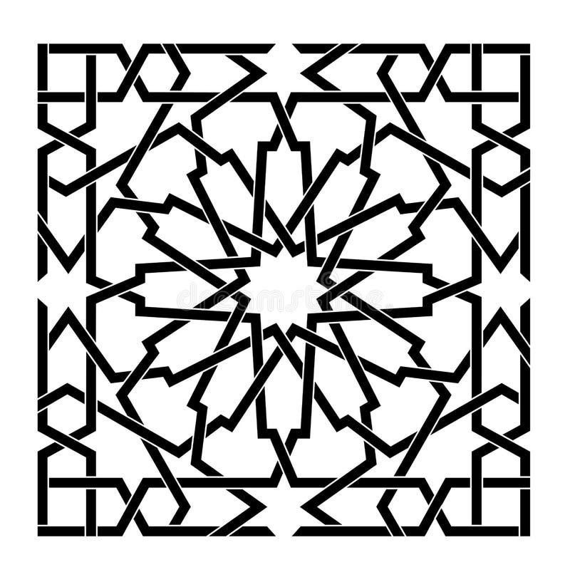 Arabisch Islamitisch vectorpatroon royalty-vrije illustratie