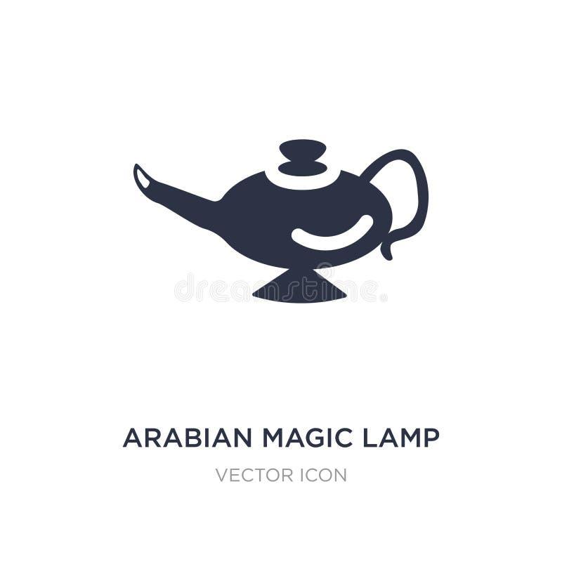 Arabisch magisch lamppictogram op witte achtergrond Eenvoudige elementenillustratie van Godsdienstconcept vector illustratie