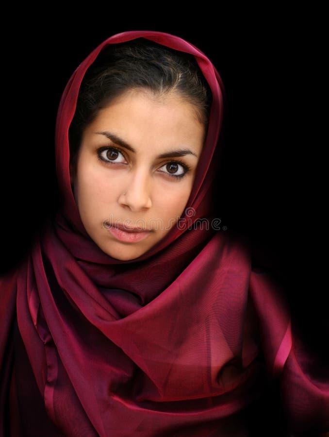 Arabisch meisje stock foto's