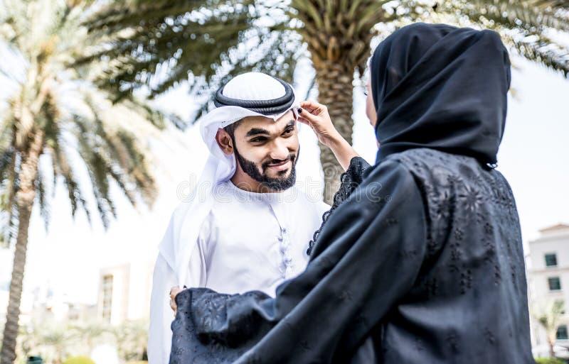 Arabisch paarportret stock fotografie