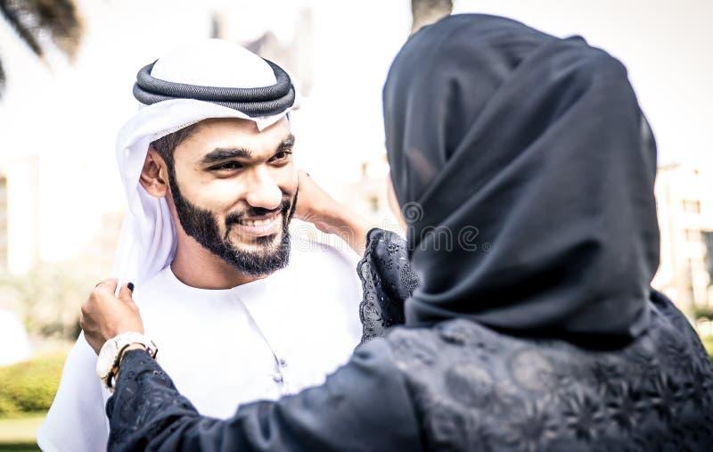 Arabisch paarportret royalty-vrije stock foto