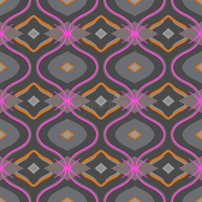 Arabisch patroon in grijs en roze royalty-vrije illustratie