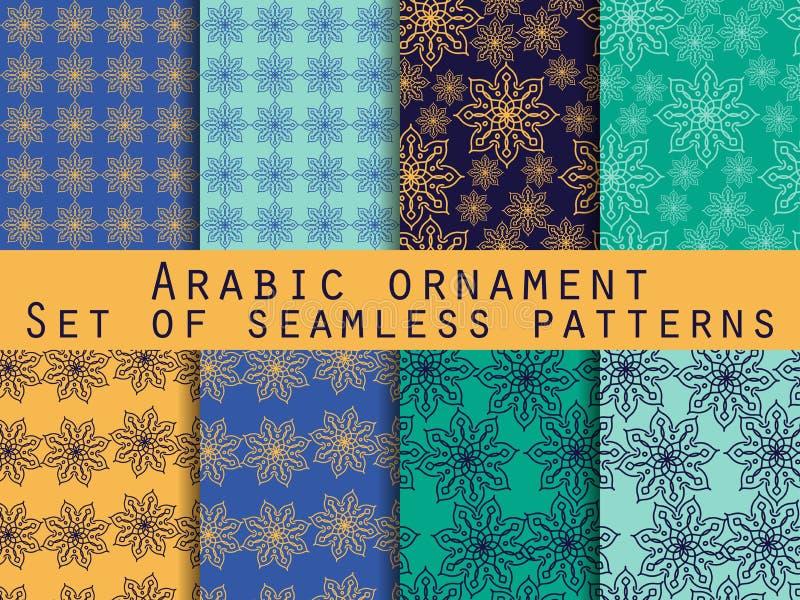 Arabisch patroon Islamitisch ornament Reeks naadloze patronen royalty-vrije illustratie