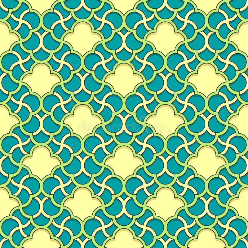 Arabisch patroon naadloos ornament stock illustratie