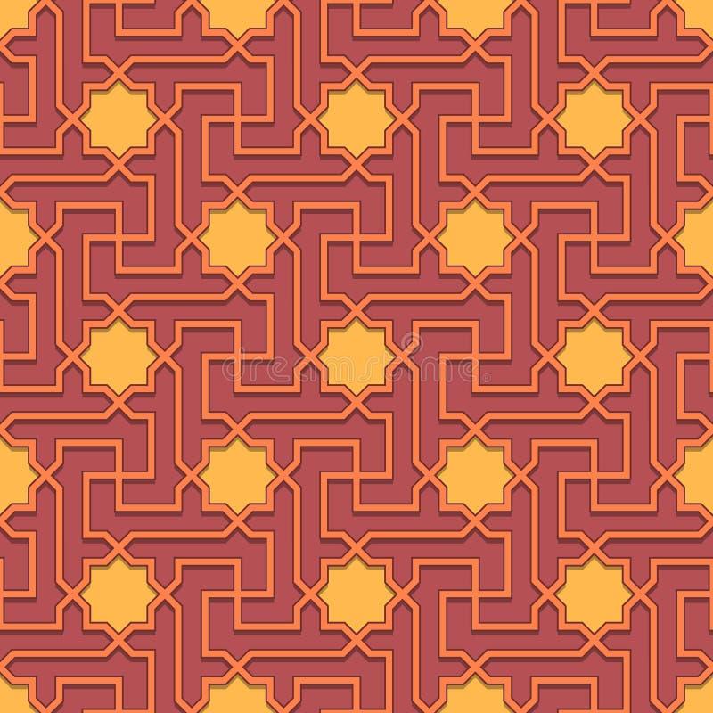 Arabisch patroon naadloos ornament royalty-vrije illustratie