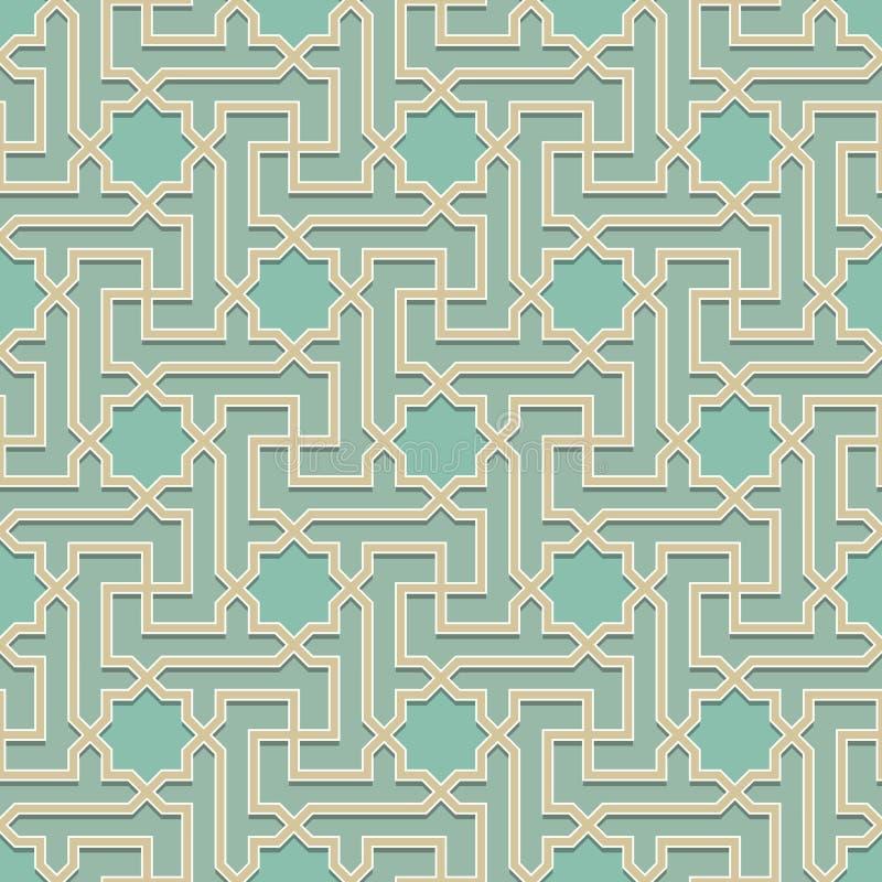 Arabisch patroon naadloos ornament vector illustratie