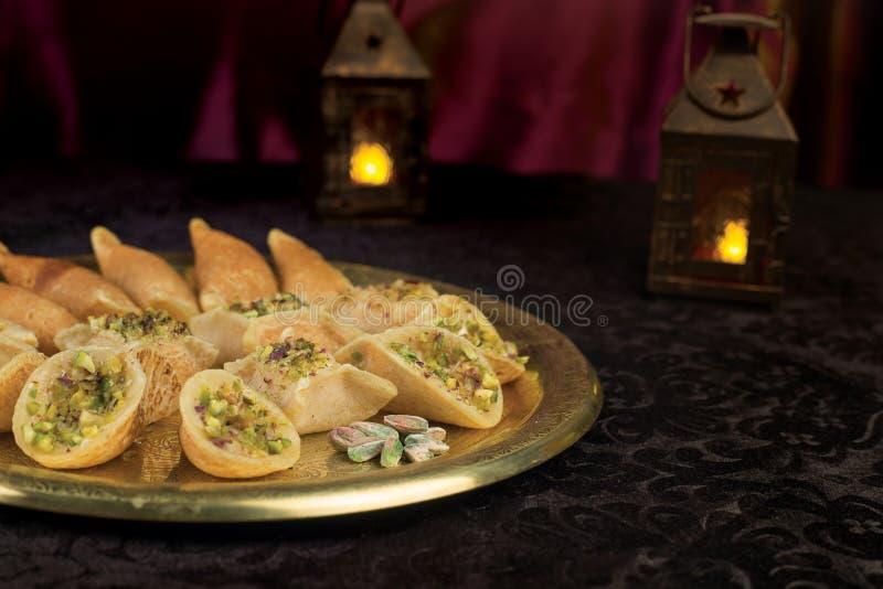 Arabisch Ramadan Desserts stock afbeelding