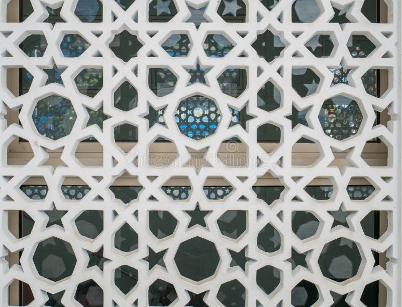 Arabisch Stijlornament op een Muur, Islamitisch Ornament stock afbeelding
