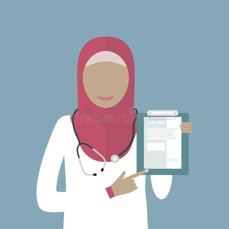Arabische Ärztin lizenzfreie abbildung