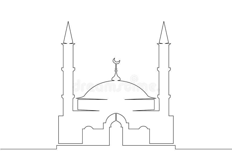 Arabische Architektur der Moscheenislam-Religion stock abbildung