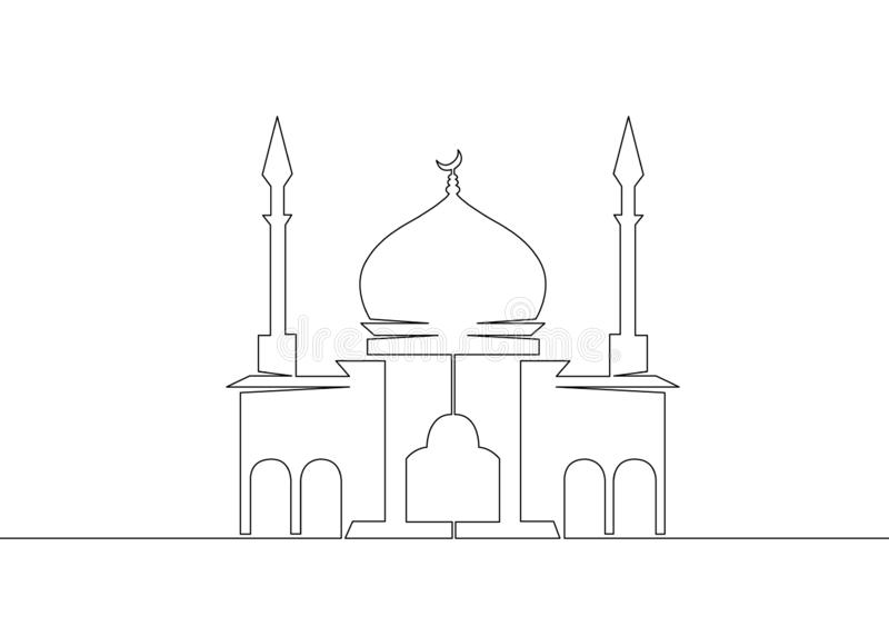 Arabische Architektur der Moscheenislam-Religion lizenzfreie abbildung