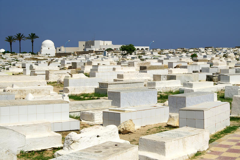 Arabische begraafplaats in Monastir royalty-vrije stock afbeeldingen