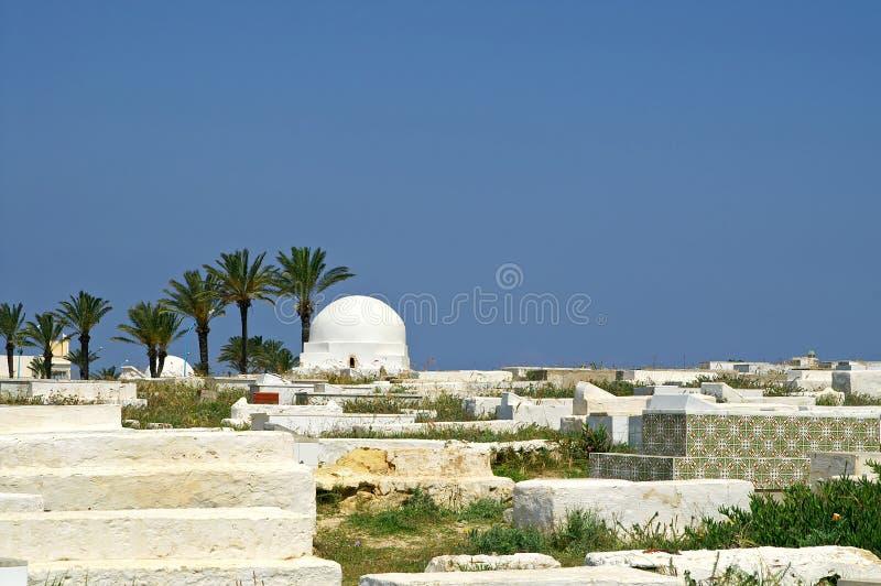 Arabische begraafplaats in Monastir stock fotografie