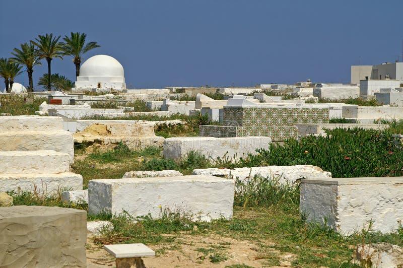 Arabische begraafplaats in Monastir royalty-vrije stock fotografie