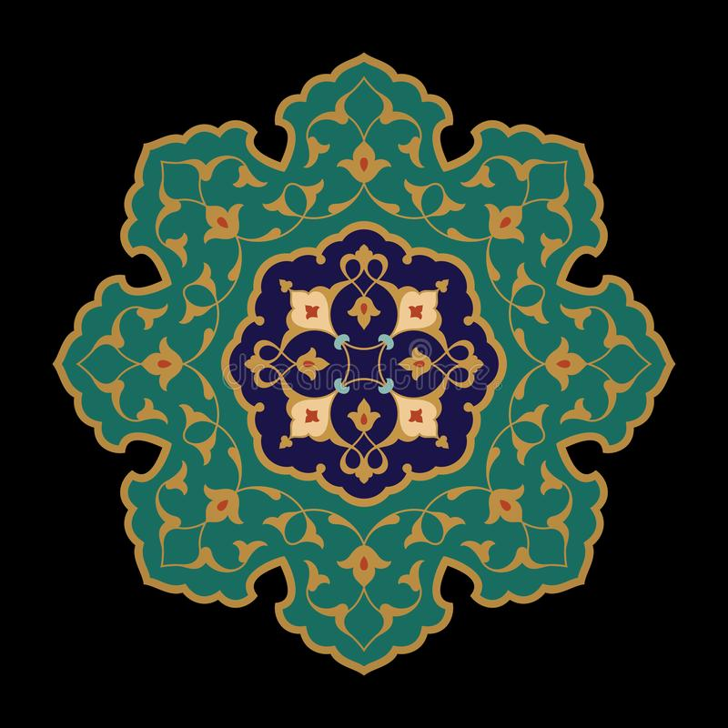 Arabische Blumenverzierung vektor abbildung