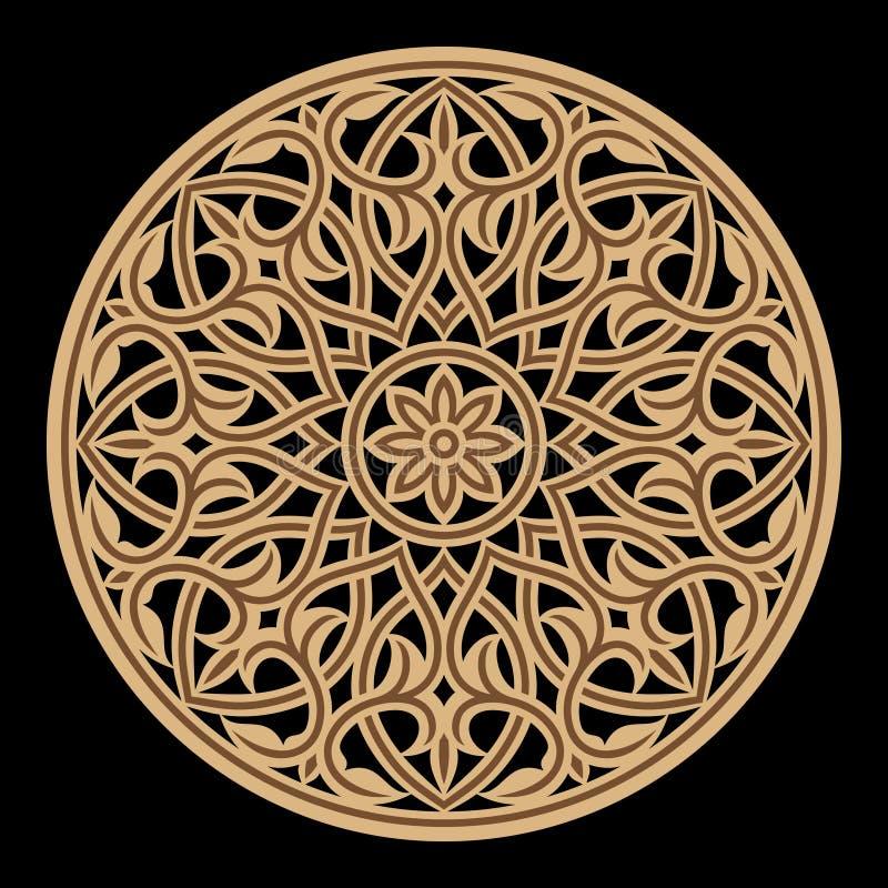 Arabische Blumenverzierung Traditionelles islamisches Design stock abbildung